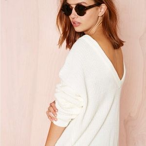 Ivory Nasty Gal oversized sweater
